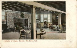 Interior of Alpine Tavern