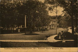 Looking South from Headquarters, Wisconsin Veterans' Home Postcard