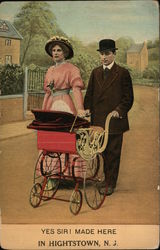 Yes Sir! Made Here - Couple with Baby Carriage