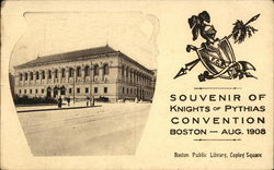 Souvenir of Knights of Pythias Convention, Aug. 1908