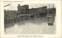 "Kansas City Flood, June, 1908 - ""Venice"""