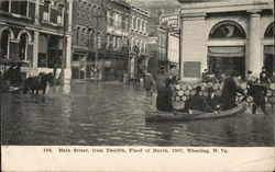 Main Street,From Twelfth, Flood of March, 1907, Wheeling, W. Va.
