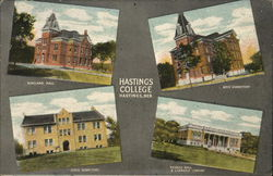 Hastings College-Ringland Hall, Boys' Dormitory, Girls' Dormitory, Science Hall & Carnegie Library