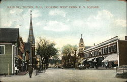 Main St., Looking West from P.O. Square Postcard