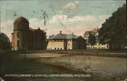 Observatory, Gymnasium & Science Hall, Lawrence University Postcard