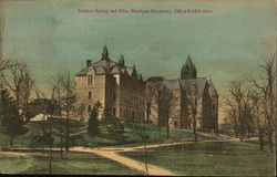 Sulphur Spring and Ohio Wesleyan University Postcard