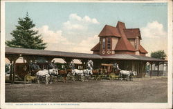 Railway Station, in the White Mountains, Stagecoaches
