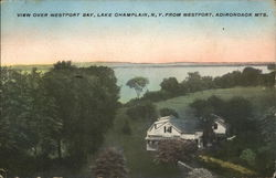 View Over Westport Bay, Lake Champlain, N. Y. from Westport, Adirondack Mts.