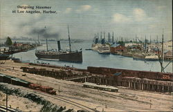 Outgoing Steamer at Los Angeles Harbor