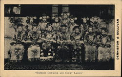 Rare: Empress Dowager of China and Court Ladies