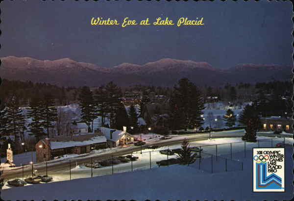 Winter Eve at Lake Placid New York