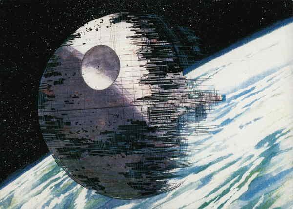 Star Wars - Death star under construction. Illustration