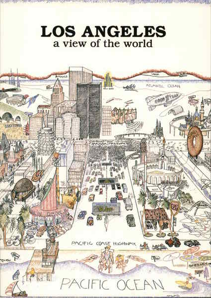 Los Angeles - A View of the World California Maps