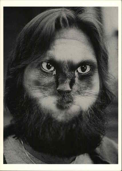 Cat-Man-Du, Man's Face Merged With Cat Face Photographic Art