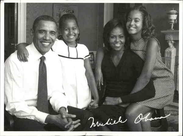 The Obama Family - Campaign Postcard Washington District of Columbia