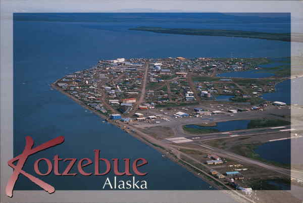 Aerial View of Kotzebue, Alaska in the Summer