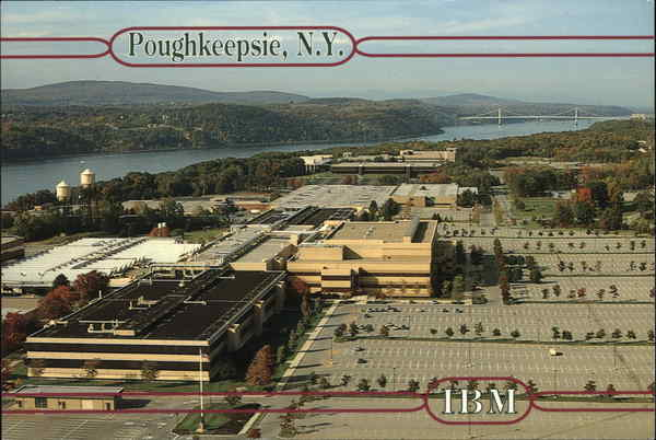 Aerial View of Main IBM Plant Located on South Road, Rte. 9 Poughkeepsie New York