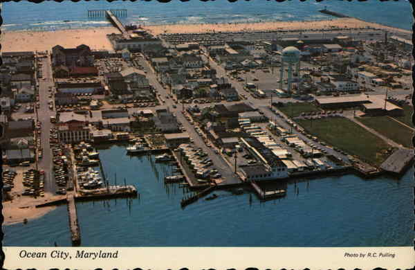 Aerial View of Town Ocean City Maryland