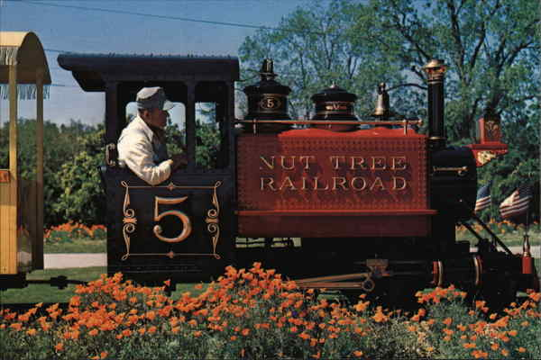 Colorful Nut Tree Railroad Engine #5 Vacaville California