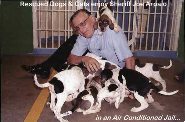 Rescued Dogs & Cats enjoy Sheriff Joe Arpaio Arizona