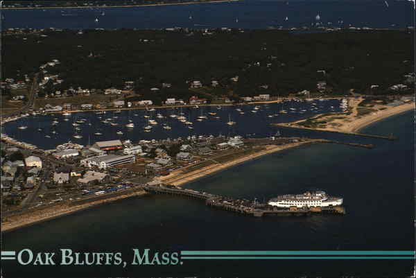 Aerial View of Town and Vineyard Haven Harbor Oak Bluffs Massachusetts