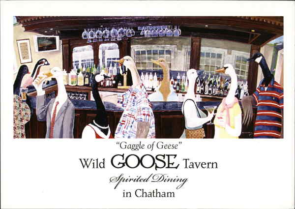 Gaggle of Geese, Wild Goose Tavern Cape Cod Massachusetts