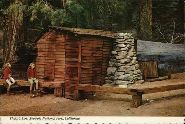 Tharp 39 s log sequoia national park california sequoia for Log cabin sequoia national park