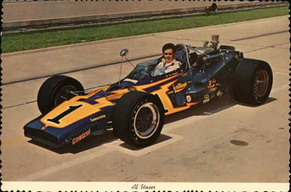Al Unser In His Racing Car Indianapolis Auto Racing