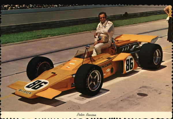 Peter Revson With Race Car #86 Indianapolis Auto Racing