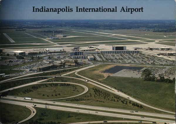 indianapolis international airport postcard