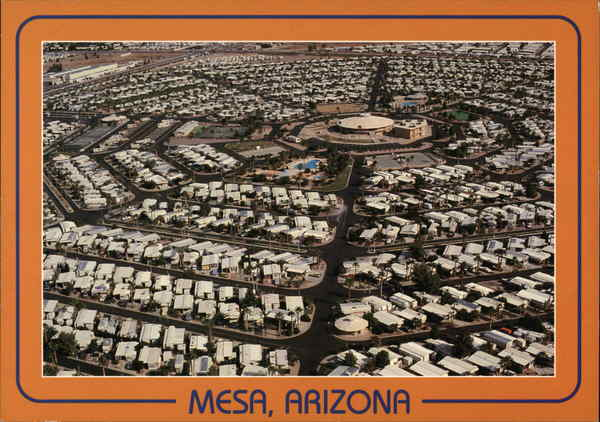 Aerial View Mesa Arizona
