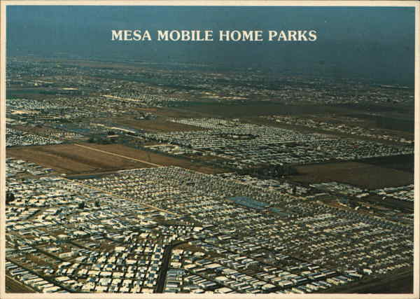 Aerial View of Mobile Home Parks Mesa Arizona