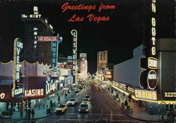 Casino Center - Fremont Street, Greetings from Las Vegas Nevada