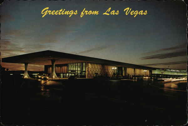 McCarran International Airport at Night Las Vegas Nevada