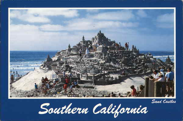 Sand Castles on the Beach in Southern California Los Angeles