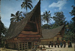 Tomok Village - Batak Traditional House, Samosir Island, Lake Toba