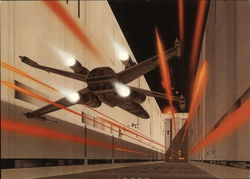 Star Wars - Rebel X-Wing in Death Star trench.