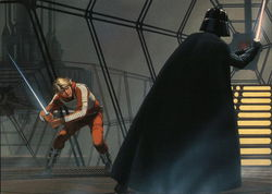 Luke and Vader Duel in the Carbon-Freezing Chamber - Star Wars