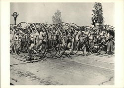 "Starting Line of ""Human Hoop"" Race c. 1927"