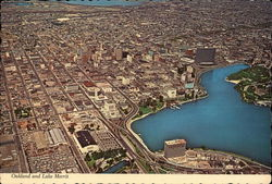 Aerial View of City and Lake Merrit