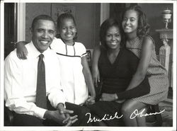 The Obama Family - Campaign Postcard
