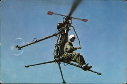 US Navy Hiller One-Man Helicopter XROE-1
