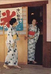 Two Girls in Traditional Kimonos, Marco Polo Park