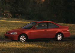 2000 Honda Civic Coupe - Red