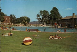 Crystal Beach Swimming Pool Postcard