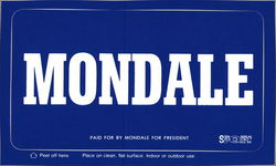 Mondale - Paid for by Mondale for President