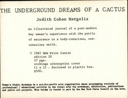 The Underground Dreams of a Cactus by Judith Cohen Margolis