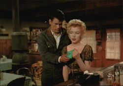 "Don Murray and Marilyn Monroe in a Scene from ""Bus Stop"""