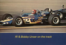 All & Bobby Unser on the Track