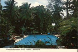 Club Mediterranee Pool Postcard